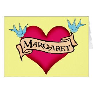 Margaret - camisetas y regalos de encargo del tatu tarjetón