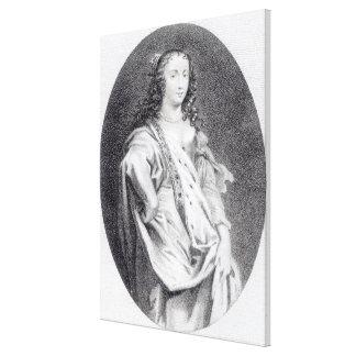 Margaret Cavendish, duquesa de Newcastle Impresión En Lienzo
