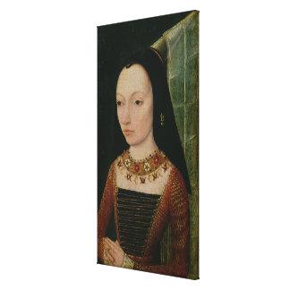 Margaret de la duquesa de York de Borgoña, c.1477 Impresion De Lienzo