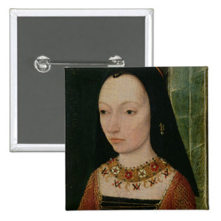 Margaret de la duquesa de York de Borgoña, c.1477 Pin Cuadrado