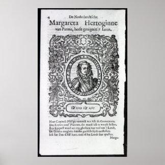 Margaret de Parma, gobernador de los Países Bajos Póster
