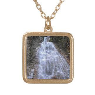 Margaret Falls, BC I Photo Print Gold Plated Necklace
