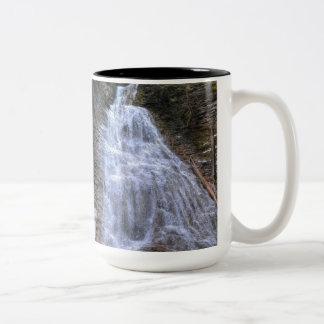 Margaret Falls, BC Nature Scenic Photo Print Two-Tone Coffee Mug