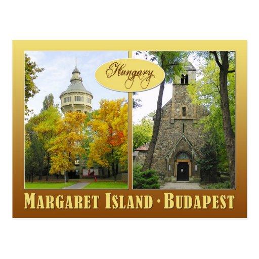 Margaret Island in Budapest, Hungary Postcard