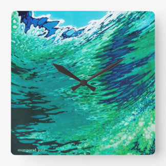 Margaret Juul  Artwork Ocean Wave Modern Clock