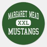 Margaret Mead - mustangos - pueblo de la arboleda  Etiquetas Redondas
