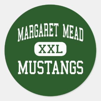 Margaret Mead - Mustangs - Elk Grove Village Classic Round Sticker