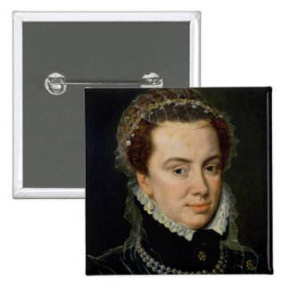 Margaret of Parma , Regent of the Netherlands 2 Inch Square Button