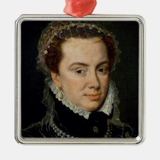 Margaret of Parma , Regent of the Netherlands Square Metal Christmas Ornament