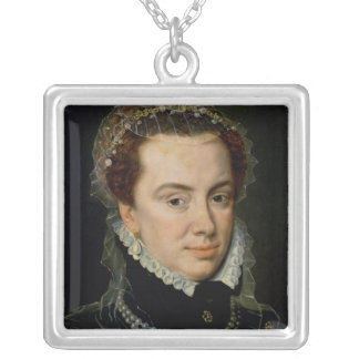 Margaret of Parma , Regent of the Netherlands Square Pendant Necklace