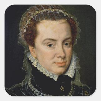 Margaret of Parma , Regent of the Netherlands Square Sticker