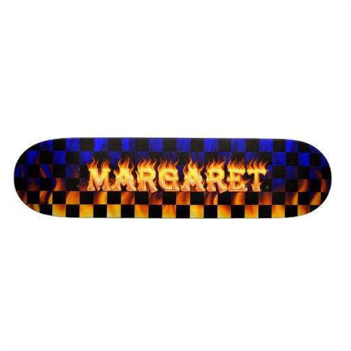 Margaret real fire Skatersollie skateboard. Skate Board Deck