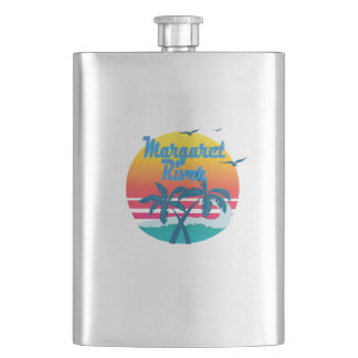 Margaret  River, summer retro vintage Flask