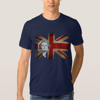 Margaret Thatcher and the United Kingdom flag T Shirt