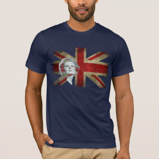 Margaret Thatcher and the United Kingdom flag T-Shirt