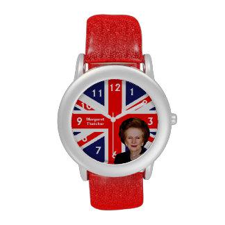 Margaret Thatcher & British Flag Wristwatches