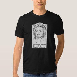 Margaret Thatcher - camiseta de la dama de hierro Playeras