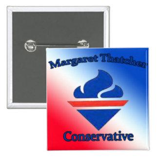 Margaret Thatcher Conservative Pinback Button