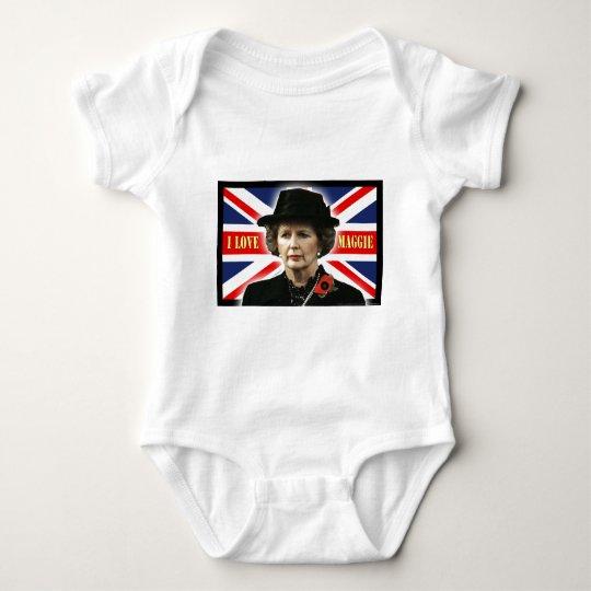 Margaret Thatcher I Love Maggie Baby Bodysuit