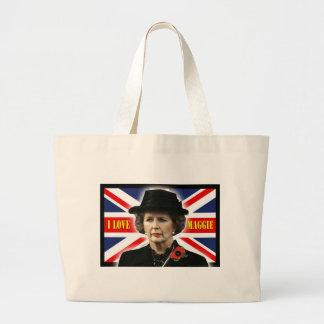 Margaret Thatcher I Love Maggie Jumbo Tote Bag