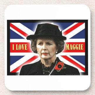Margaret Thatcher I Love Maggie Beverage Coasters
