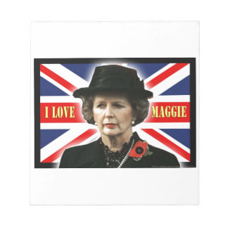 Margaret Thatcher I Love Maggie Memo Note Pads