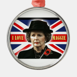 Margaret Thatcher I Love Maggie Metal Ornament