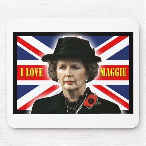 Margaret Thatcher I Love Maggie Mousemats