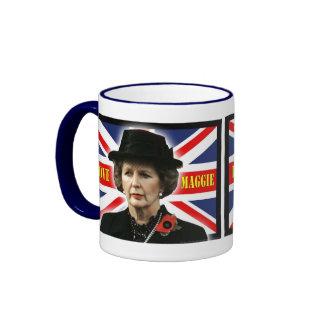 Margaret Thatcher I Love Maggie Coffee Mugs