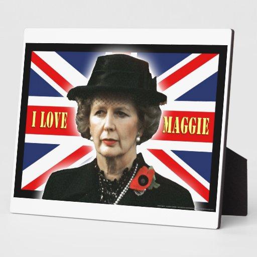 Margaret Thatcher I Love Maggie Photo Plaques