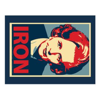 """Margaret Thatcher """"Iron"""" Postcard"""