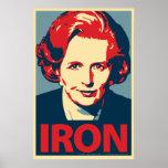 """Margaret Thatcher """"Iron"""" Poster"""