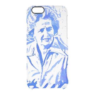 Margaret Thatcher Pop Art Portrait Clear iPhone 6/6S Case