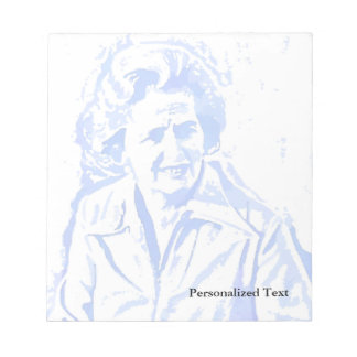 Margaret Thatcher Pop Art Portrait Notepad