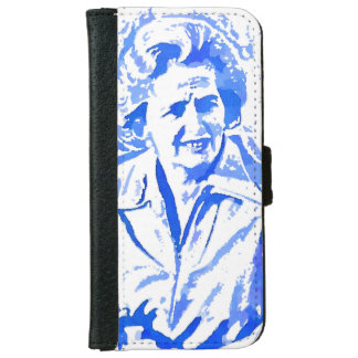 Margaret Thatcher Pop Art Portrait Wallet Phone Case For iPhone 6/6s