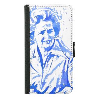 Margaret Thatcher Pop Art Portrait Wallet Phone Case For Samsung Galaxy S5