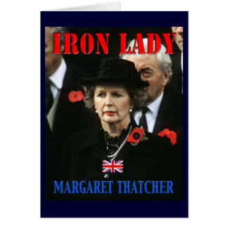 Margaret Thatcher Prime Minister Card