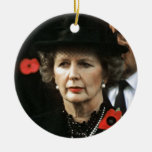 Margaret Thatcher Prime Minister Double-Sided Ceramic Round Christmas Ornament