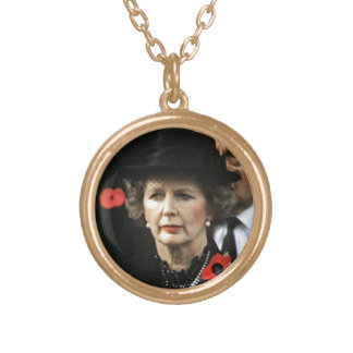 Margaret Thatcher Prime Minister Gold Plated Necklace