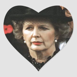 Margaret Thatcher Prime Minister Heart Sticker