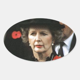 Margaret Thatcher Prime Minister Oval Sticker