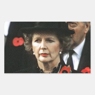Margaret Thatcher Prime Minister Rectangular Sticker