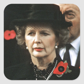 Margaret Thatcher Prime Minister Square Sticker