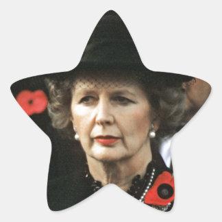 Margaret Thatcher Prime Minister Star Sticker