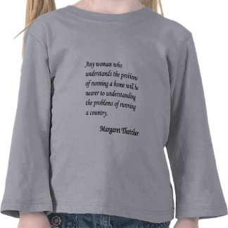 Margaret Thatcher que corre botón de la cita de u Camiseta