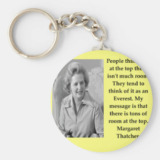 Margaret Thatcher quote Basic Round Button Keychain