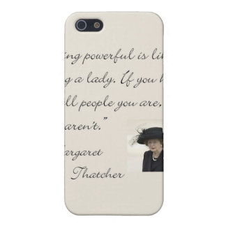 """Margaret Thatcher Quote """"Being powerful..."""" iPhone SE/5/5s Case"""