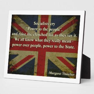 Margaret Thatcher Quote Plaque