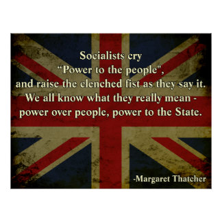 Margaret Thatcher Quote Poster