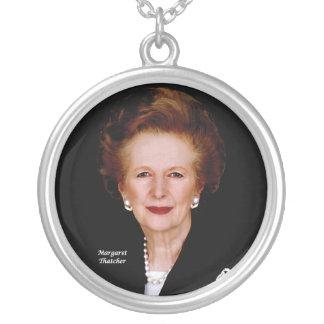 Margaret Thatcher Round Pendant Necklace